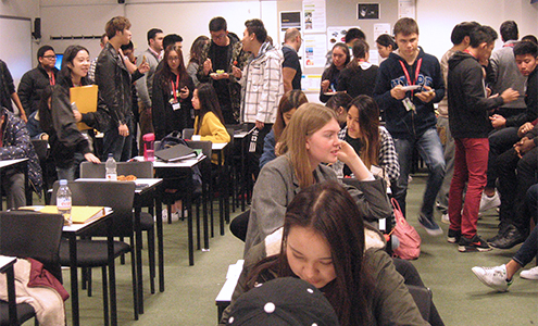 Bellerbys College students prepare for the UKMT Maths Challenge