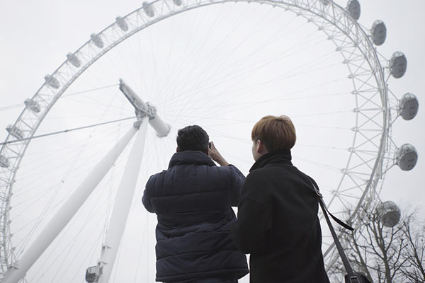 Bellerbys College students at London Eye